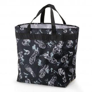 Einkaufstasche mit Muster - footsteps