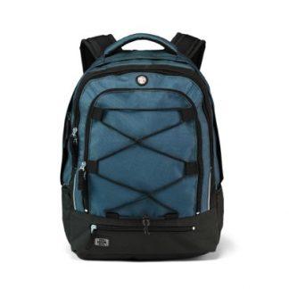 Blauer, nur 760 g schwerer Laptop-Rucksack.