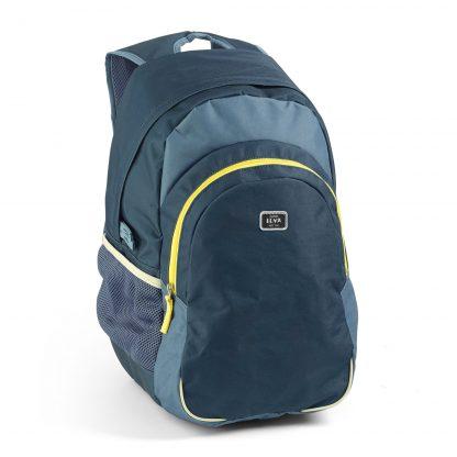 Blauer preisgünstiger Rucksack für Jungen. Gute JEVA-Qualität: leicht + viel Volumen