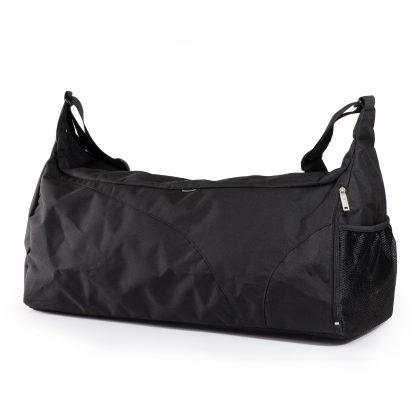 Schwarze Sporttasche von JEVA. Mit vielen geräumigen Fächern