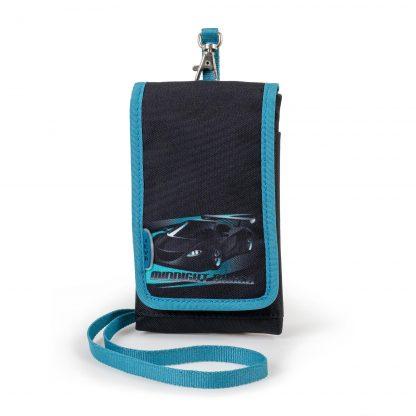 Tasche für das Handy: Midnight Racer mit Rennauto und verstellbarem Riemen.