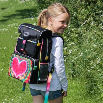 begynder skoletaske med flot hjerte
