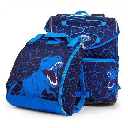 blaue schulranzen mit Tyrannosaurus