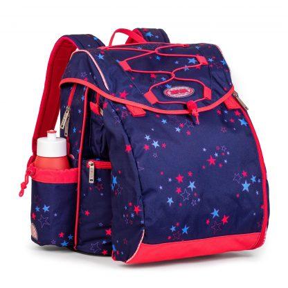 Schultasche mit Sternenprint in Pink und Blau
