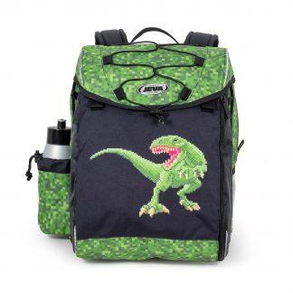 skoletaske med dinosuarus
