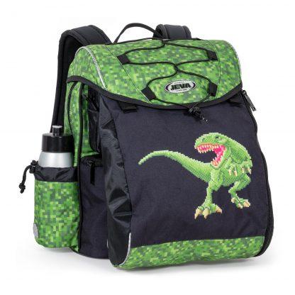 grøn dino skoletaske