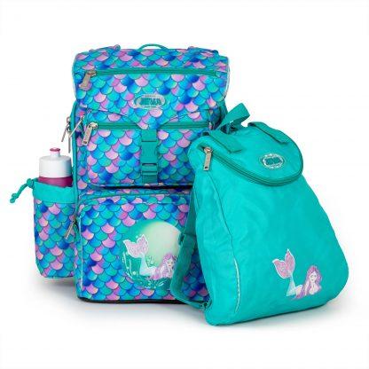 skoletasken er inkl. fin gympose med havfrue