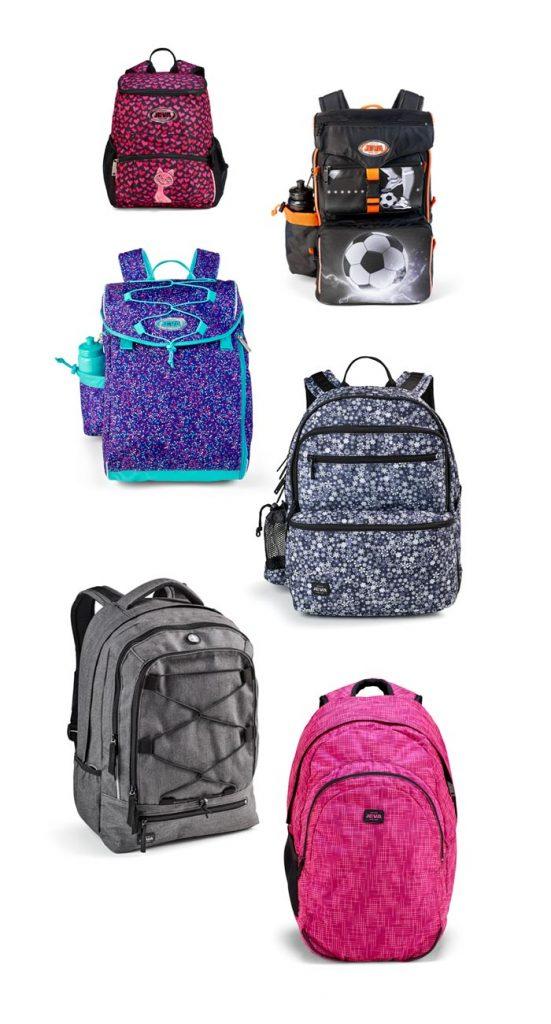 skift fra skoletaske til rygsæk