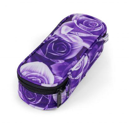 BOX Federtasche mit lilafarbenen Rosen