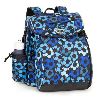blå fodbold skoletaske
