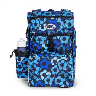 blå fodboldskoletaske