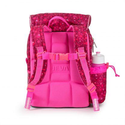 Super Pink begynderskoletaske har ergonomisk rygstøtte