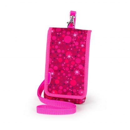 Super Pink mobiltaske med rem