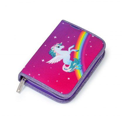 penalhus med hest og regnbue