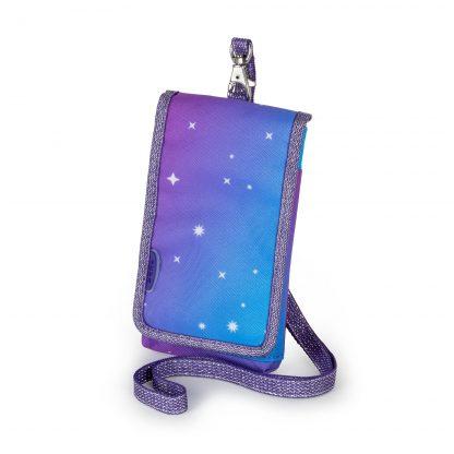 mobiltaske med glimmer
